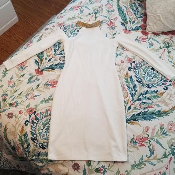 bebe Dresses & Skirts - Bebe White Long Sleeve Dress